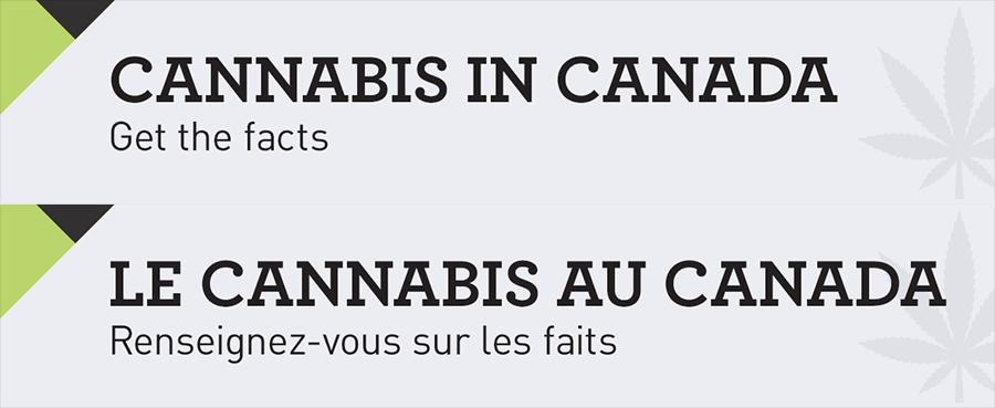 Health Canada cannabis information banners