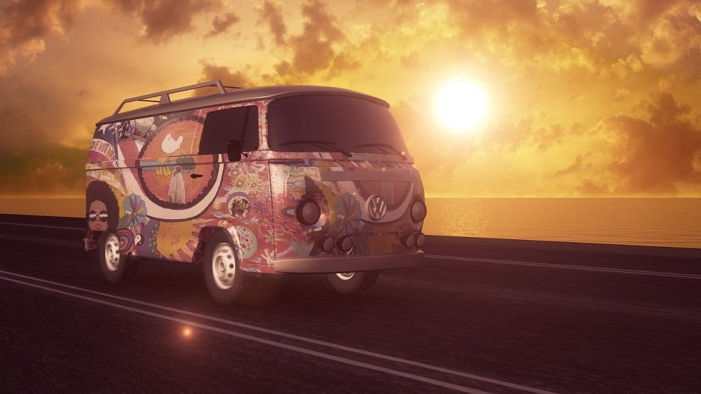 California hippie van